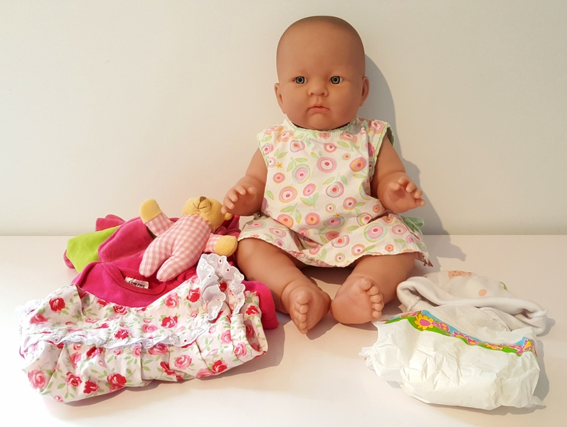 RP109: Baby Doll and Accessories Set