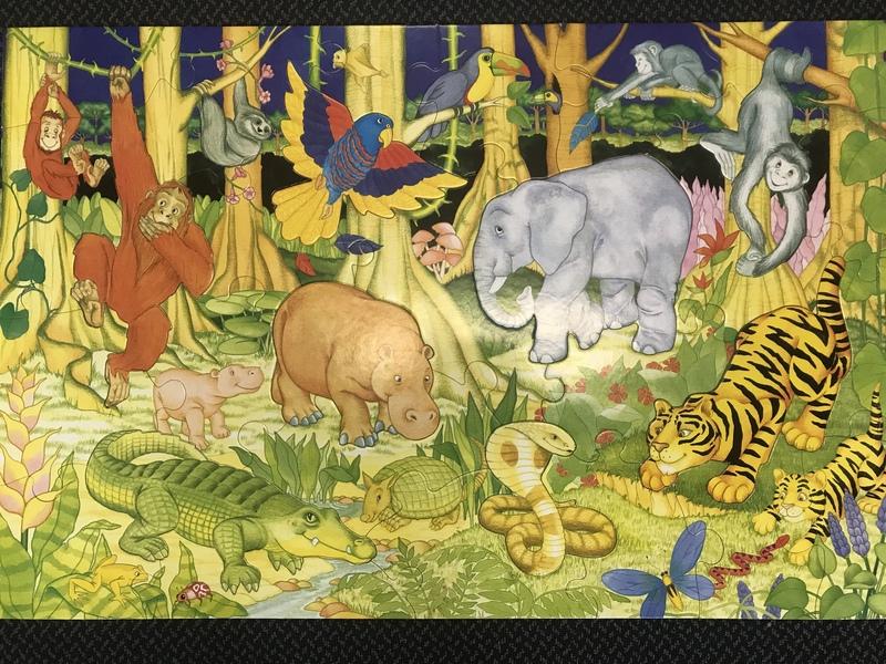 P74: Giant Floor Puzzle Jungle