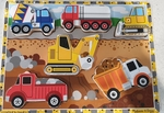 P79: Melissa & Doug Construction Vehicle Chunky Puzzle