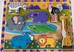 P80: Melissa & Doug Safari Animals Chunky Puzzle