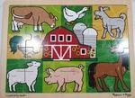 P89: Melissa & Doug Farmyard Scene Jigsaw Puzzle