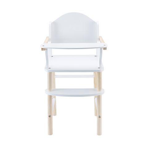 RP126: White Wooden High Chair