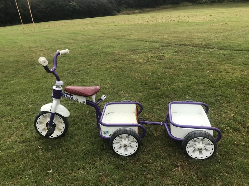 R001: Purple Tuff Trike and Trailer