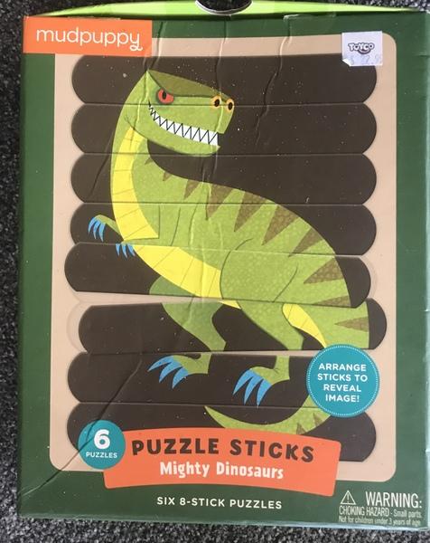 P021: Dinosaur puzzle sticks