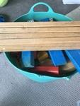 C017: Big tub of wooden blocks