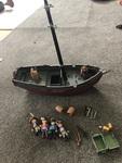 T011: Playmobil brown gray ship