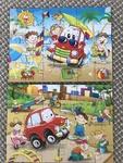 P016: 2 x Beach theme puzzle