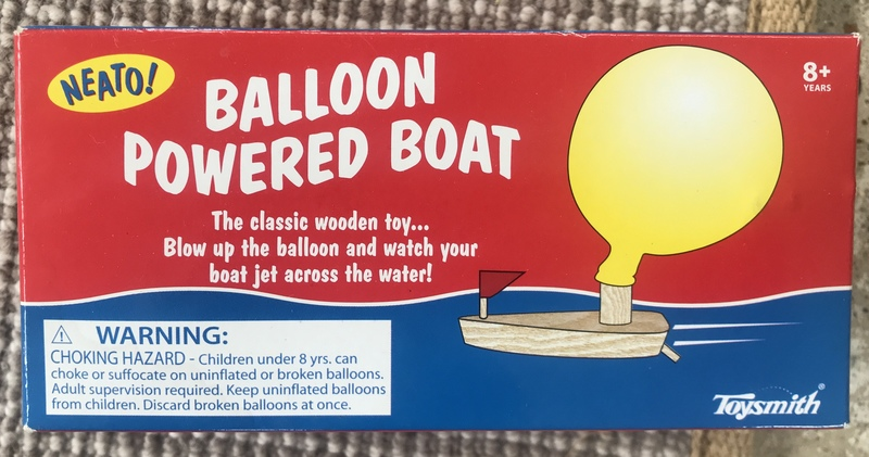 S001: Balloon boat