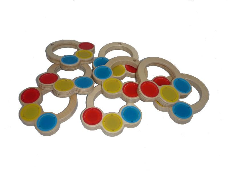 F6045: CCPG Set of 8 baby rhythm shakers