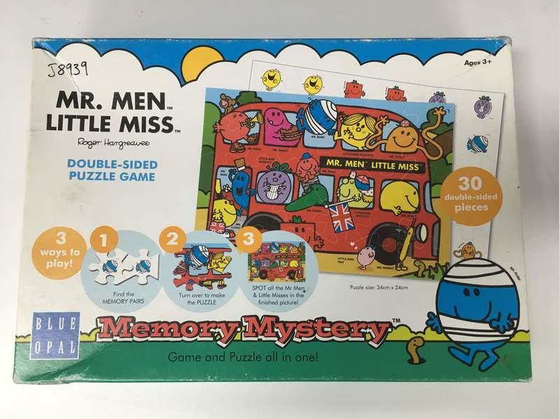 J8939: Mr Men Double Sided Puzzle Game