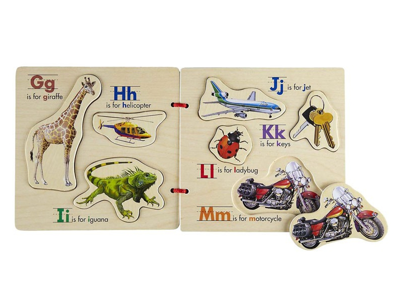 D3416: Magnetic Wooden ABC book