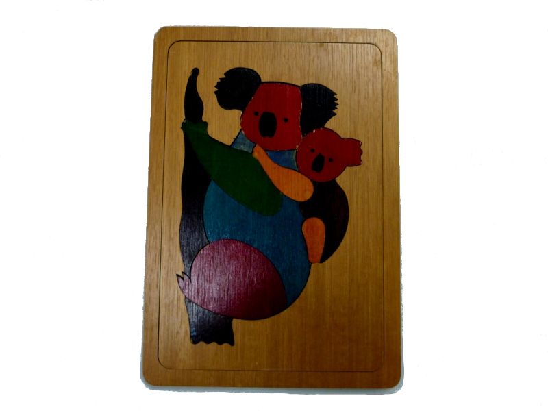 J8411: Koala - Two way template inset puzzle