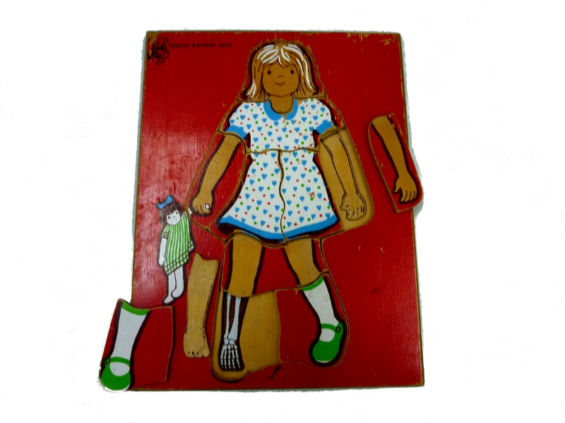 J862: Girl multiple layer inset puzzle