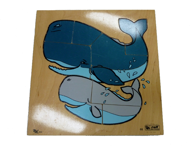 J8430: Mother & baby Whale Puzzle