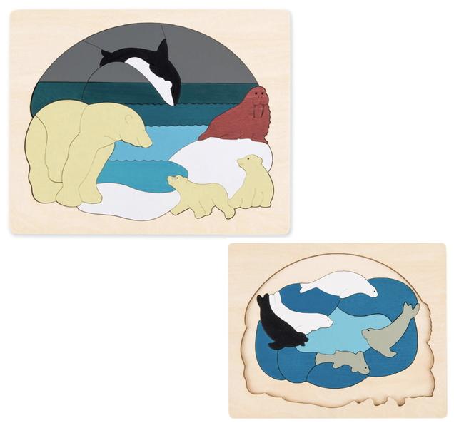 J86001: Arctic Animals Layered Puzzle