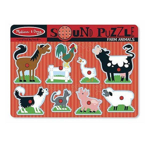 J957: Melissa & Doug Sound Puzzle - Farm Animals