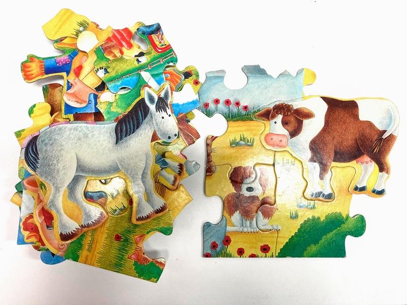 J8918: Farm Animal Giant Floor Puzzle - Big pieces