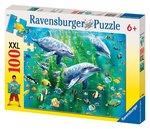 J901: Ravensburger Dolphin 100 Piece puzzle