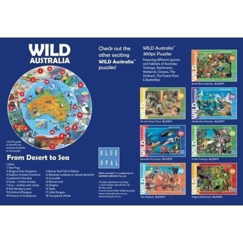 J903: Wild Australia round world map