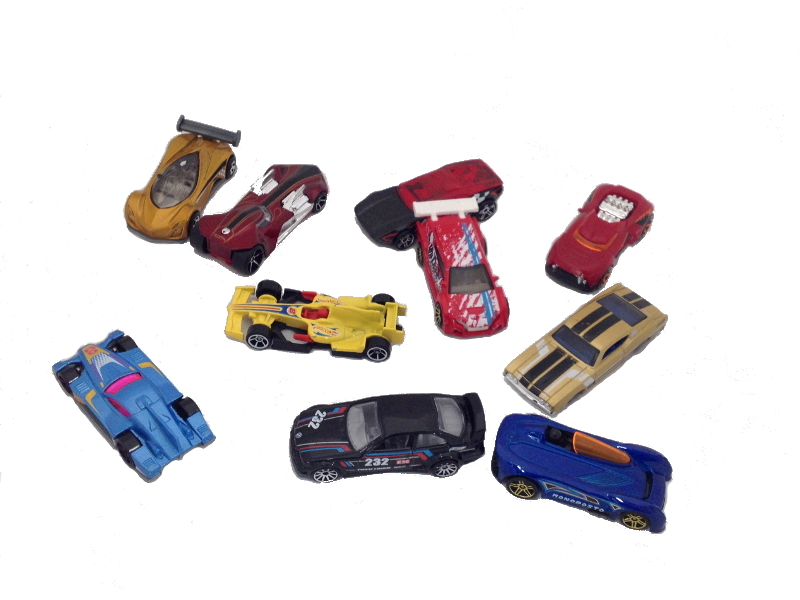 E4881: Diecast toy cars and Ramp