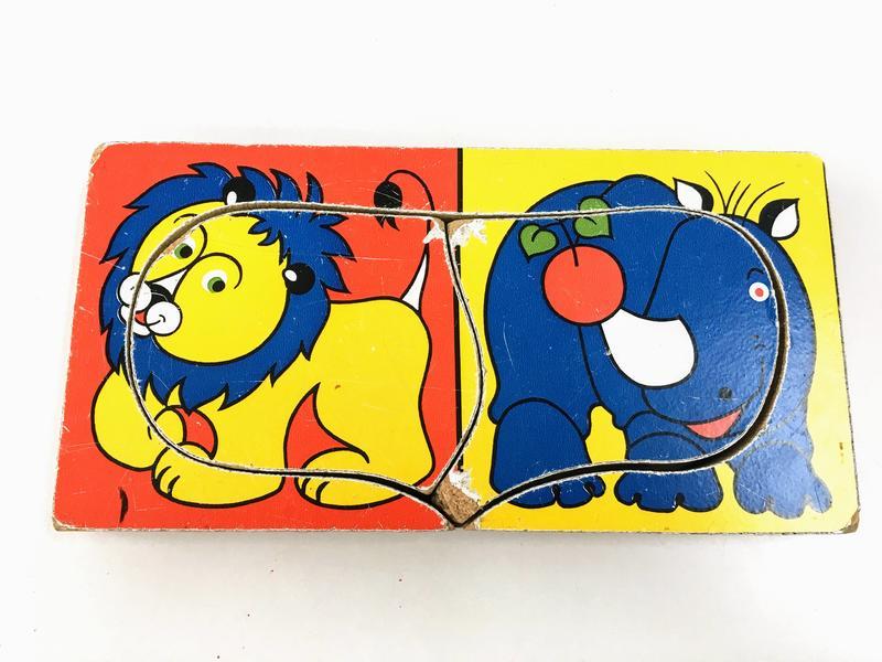 J832: Inset Jigsaw - Lion & Rhino