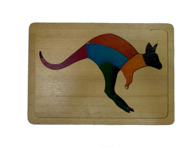 J848: Kangaroo - Two way template inset puzzle