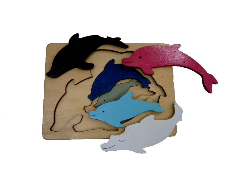 J869: Dolphin Layered Puzzle