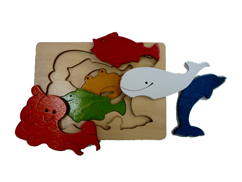 J8612: Whale and Friends Layered Puzzle