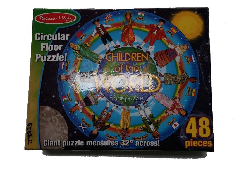 J8923: Children of the World Circular Floor Puzzle