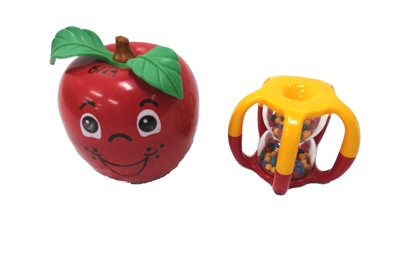 B1522: Happy Apple and Hourglass Rattle