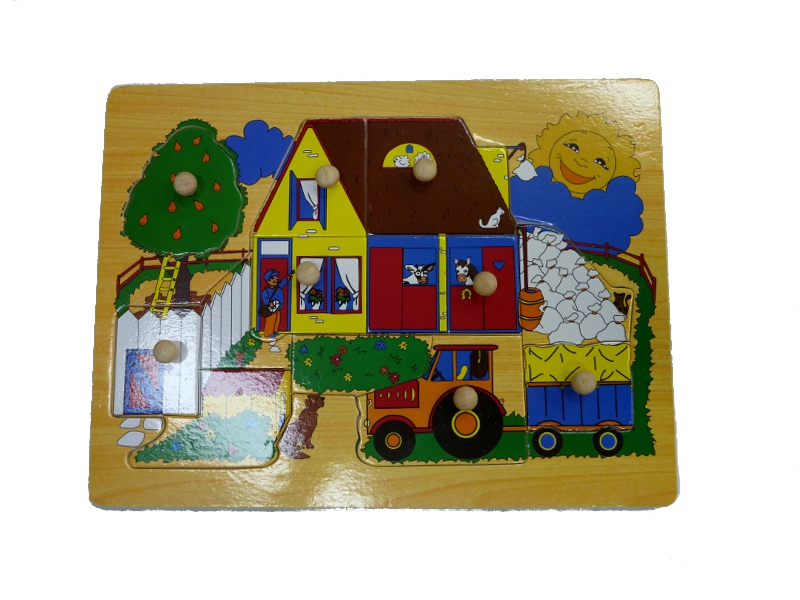 J8447: Farmhouse Inset Puzzle