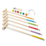 F5-055: Wooden  Croquet Set