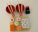 E3-391: Wooden Sushi Set