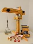 E3-398: Hape Crane and Dump Truck Set
