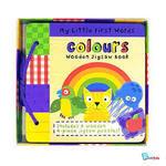 CBFW100029: Colours Wooden Jigsaw Book