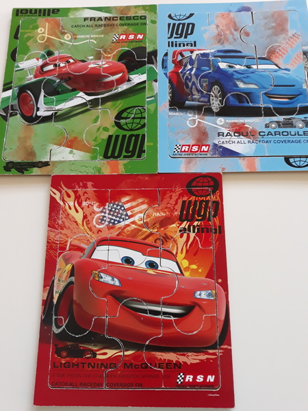 495: CARS 2 - SET OF 3 PUZZLES