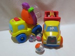 I083: LITTLE TIKES TRUCK AND ROLL AROUNDS MIXER
