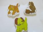 3 PIECE PUZZLE : DOG, CAT, BUNNY