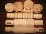 DESIGNER ROLLING PINS AND DOUGH STAMPERS