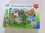 DINOSAURS SET OF 3 PUZZLES