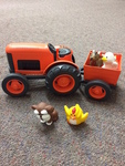 K181: TRACTOR WAGON AND FARM ANIMALS