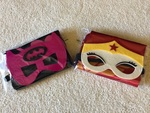 BAT GIRL AND WONDER WOMAN CAPE AND MASK SET
