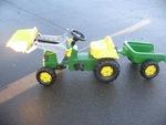 3: John Deere tractor and trailer