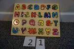 21: Wooden alphabet toy
