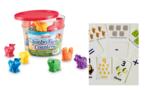 TS4-104: Early Maths Flashcards and Jumbo Safari Counters Set