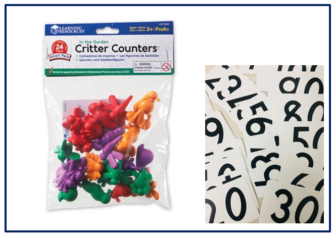 TS4-105: Early Maths Critter Counters and Number Cards