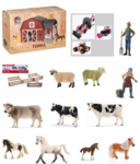 TS7-013: Barn Play Set with Pink Tractors