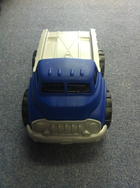 A013: Flatbed Truck with Red Race Car