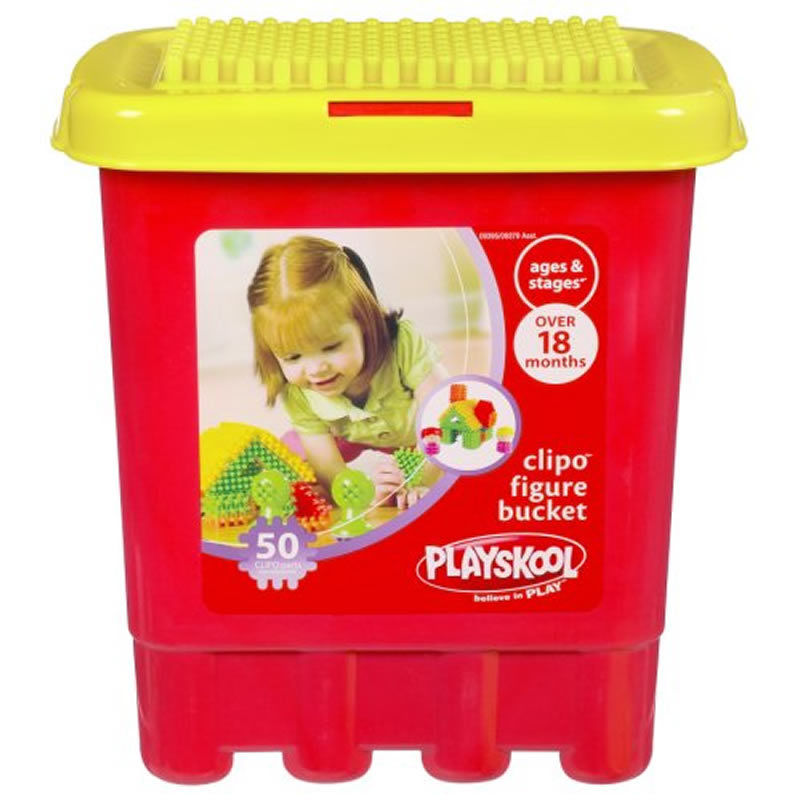 C014: Playskool Clipo Figure Bucket