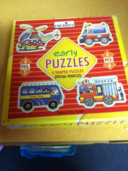 P031: Early Puzzles Special Vehicles